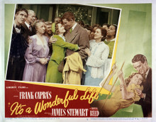 This is an image of Vintage Reproduction Lobby Card of Its a Wonderful Life 295258