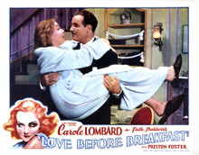 This is an image of Vintage Reproduction Lobby Card of Love Before Breakfast 295267