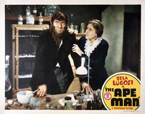 This is an image of Vintage Reproduction Lobby Card of The Ape Man 295269