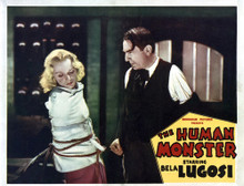 This is an image of Vintage Reproduction Lobby Card of The Human Monster 295271