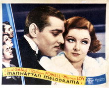 This is an image of Vintage Reproduction Lobby Card of Manhattan Melodrama 295274