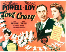 This is an image of Vintage Reproduction Lobby Card of Love Crazy 296213