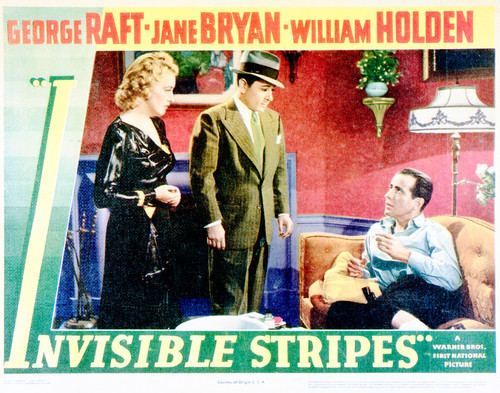 This is an image of Vintage Reproduction Lobby Card of Invisible Stripes 296215