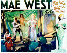 This is an image of Vintage Reproduction Lobby Card of I'm No Angel 296224