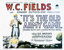 This is an image of Vintage Reproduction Lobby Card of It's the Old Army Game 296234