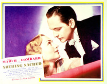 This is an image of Vintage Reproduction Lobby Card of Nothing Sacred 296235