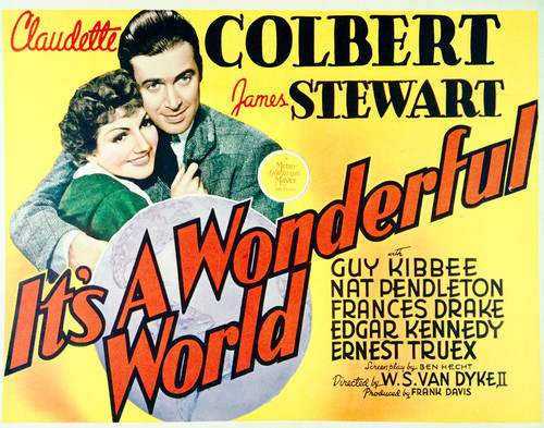 This Is An Image Of Vintage Reproduction Lobby Card Its A Wonderful World 296237