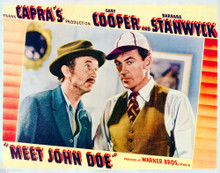 This is an image of Vintage Reproduction Lobby Card of Meet John Doe 296239