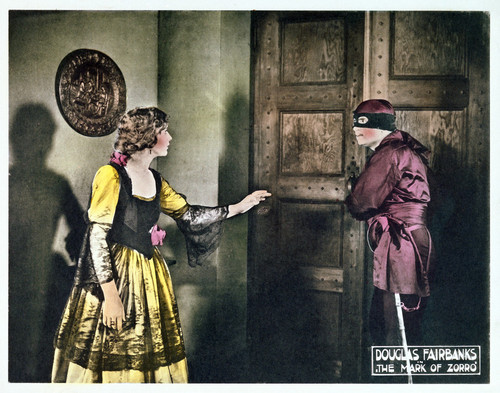 This is an image of Vintage Reproduction Lobby Card of The Mask of Zorro 296244