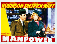 This is an image of Vintage Reproduction Lobby Card of Manpower 296246
