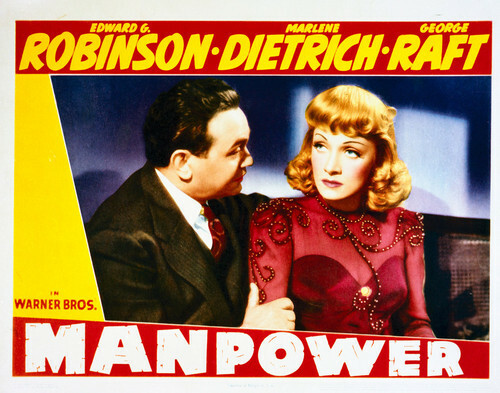 This is an image of Vintage Reproduction Lobby Card of Manpower 296254