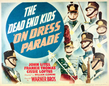 This is an image of Vintage Reproduction Lobby Card of The Dead End Kids on Dress Parade 296262