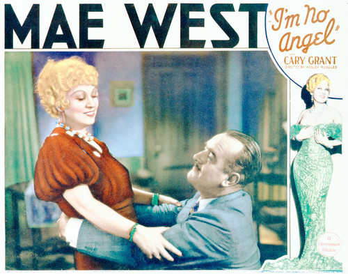 This is an image of Vintage Reproduction Lobby Card of I'm No Angel 296268