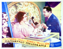 This is an image of Vintage Reproduction Lobby Card of Manhattan Melodrama 296272