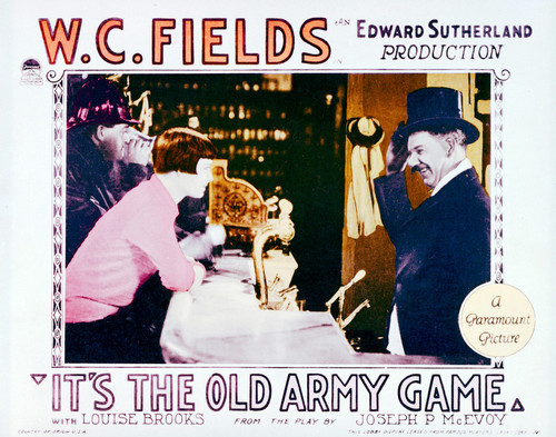 This is an image of Vintage Reproduction Lobby Card of It's the Old Army Game 296275