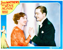 This is an image of Vintage Reproduction Lobby Card of It's Love Again 296278