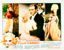 This is an image of Vintage Reproduction Lobby Card of Love Before Breakfast 296285