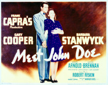 This is an image of Vintage Reproduction Lobby Card of Meet John Doe 296306