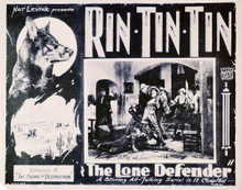 This is an image of Vintage Reproduction Lobby Card of The Lone Defender 296310