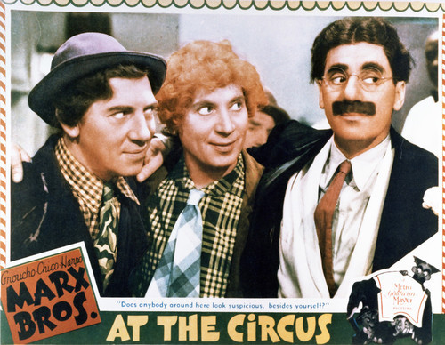 This is an image of Vintage Reproduction Lobby Card of At the Circus 296366