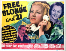This is an image of Vintage Reproduction Lobby Card of Free Blonde and 21 296382