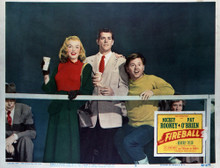 This is an image of Vintage Reproduction Lobby Card of The Fireball 296383