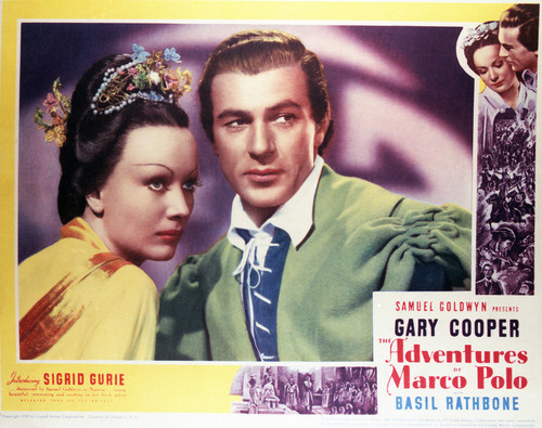 This is an image of Vintage Reproduction Lobby Card of The Adventures of Marco Polo 296393