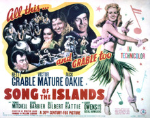 This is an image of Vintage Reproduction Lobby Card of Song of the Islands 296406
