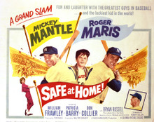 This is an image of Vintage Reproduction Lobby Card of Safe at Home 296415