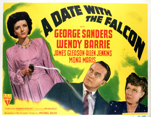 This is an image of Vintage Reproduction Lobby Card of A Date with the Falcon 296424