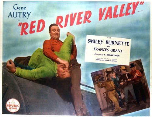 This is an image of Vintage Reproduction Lobby Card of Red River Valley 296431