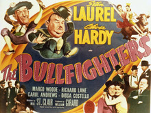 This is an image of Vintage Reproduction Lobby Card of Bullfighters 296432
