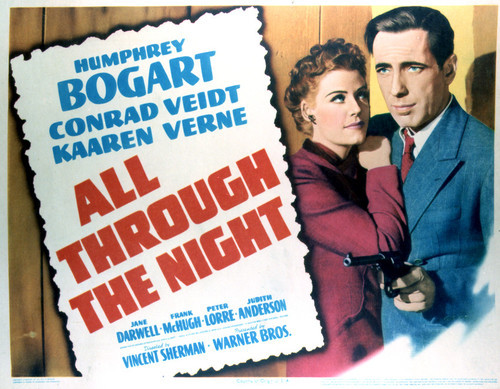 This is an image of Vintage Reproduction Lobby Card of All Through the Night 296445