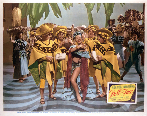 This is an image of Vintage Reproduction Lobby Card of Doll Face 296452