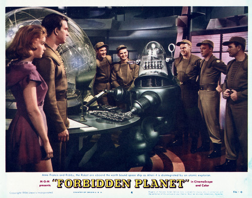 This is an image of Vintage Reproduction Lobby Card of Forbidden Planet 296512