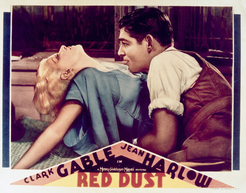 This is an image of Vintage Reproduction Lobby Card of Red Dust 296518