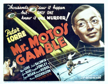 This is an image of Vintage Reproduction Lobby Card of Mr. Moto'S Gamble 296530
