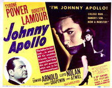 This is an image of Vintage Reproduction Lobby Card of Johnny Apollo 296532