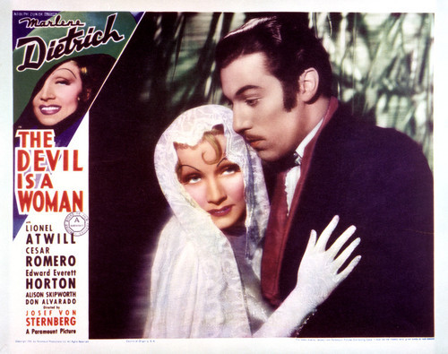 This is an image of Vintage Reproduction Lobby Card of The Devil is a Woman 297233