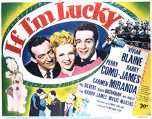 This is an image of Vintage Reproduction Lobby Card of If I'm Lucky 296906