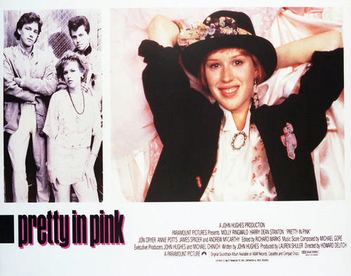 This is an image of Vintage Reproduction Lobby Card of Pretty in Pink 296908