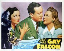 This is an image of Vintage Reproduction Lobby Card of The Gay Falcon 296924