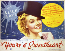 This is an image of Vintage Reproduction Lobby Card of You're a Sweetheart 296926