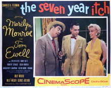 This is an image of Vintage Reproduction Lobby Card of The Seven Year Itch 296930