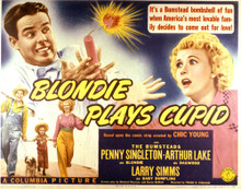 This is an image of Vintage Reproduction Lobby Card of Blondie Plays Cupid 296931