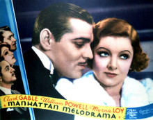 This is an image of Vintage Reproduction Lobby Card of Manhattan Melodrama 296934