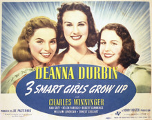 This is an image of Vintage Reproduction Lobby Card of 3 Smart Girls Grow Up 296935