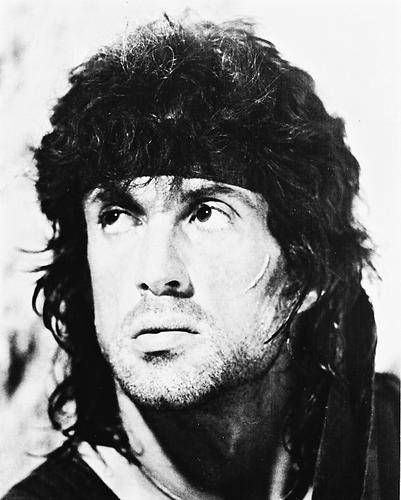 This is an image of 12033 Sylvester Stallone Photograph & Poster