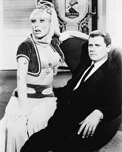 This is an image of 16778 Barbara Eden & Larry Hagman Photograph & Poster