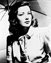 This is an image of 18235 Gene Tierney Photograph & Poster
